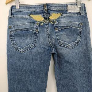 Robin's Jean Medium Wash Straight Leg Jeans 30